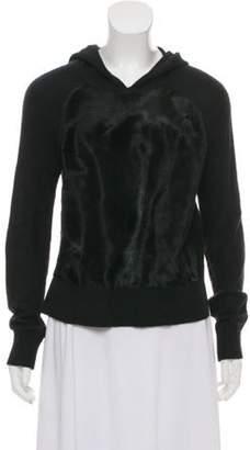 Intermix Wool- Blend Knit Sweater Black Wool- Blend Knit Sweater