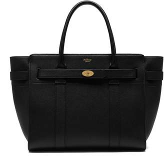 Mulberry Zipped Bayswater Black Small Classic Grained Leather