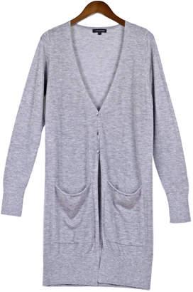 Cashmerism Grey Super-Fine Cashmere Long Cardigan
