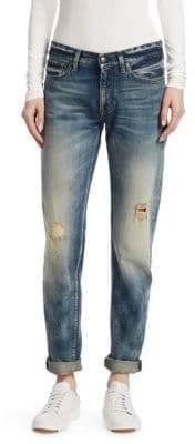 Ralph Lauren Iconic Style 320 Distressed Boyfriend Jeans