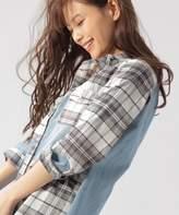 BAYFLOW (ベイフロー) - デニムパッチワークシャツ