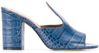 Paris Texas crocodile print sandals