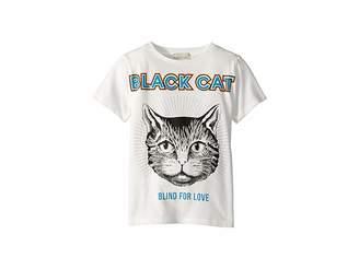 0f8989013ae1 Gucci Kids Black Cat T-Shirt (Little Kids/Big Kids)