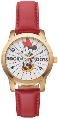 "Disney Disney's Minnie Mouse ""Rock the Dots"" Women's Leather Watch"