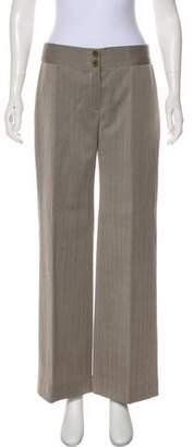 Armani Collezioni Wool Mid-Rise Wide-Leg Pants