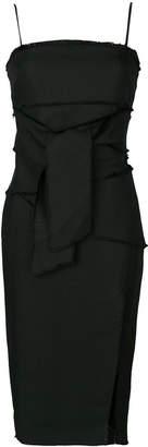 Misha Collection raw edge waist tie dress