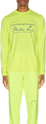 Martine Rose Long Sleeve Tee in in Fluoro | FWRD