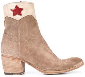 Fauzian Jeunesse' Fauzian Jeunesse red star ankle boots