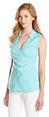NYDJ Women's Fit Solution Sleeveless Wrap Top