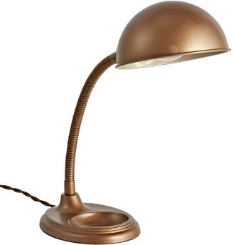 Rejuvenation Simple Industrial Gooseneck Lamp w/ Bronze Tone Finish