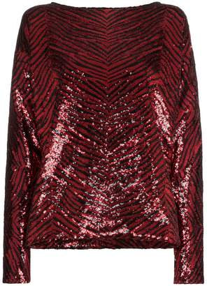 Alexandre Vauthier sequin embellished loose fit blouse