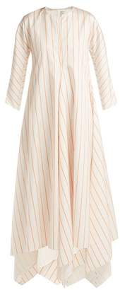 Maison Rabih Kayrouz Striped Mikado Dress - Womens - White Multi