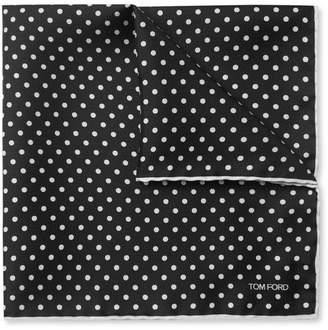 Tom Ford Polka-Dot Silk-Twill Pocket Square