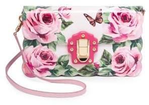 Dolce & Gabbana Rose& Butterfly Print Evening Clutch