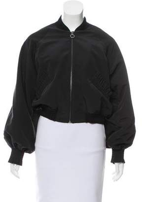 Alexis Ruffle-Accented Bomber Jacket