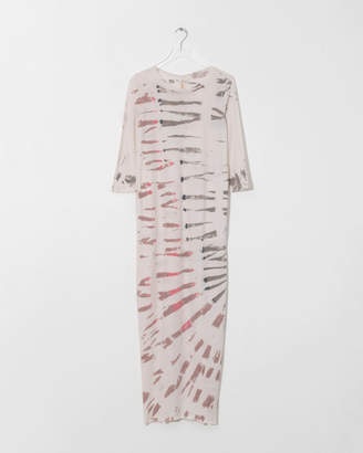 Raquel Allegra White Mountain Half Sleeve Caftan Dress