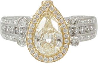 LeVian Suzy Diamonds Suzy 18K Two-Tone 1.96 Ct. Tw. Diamond Ring