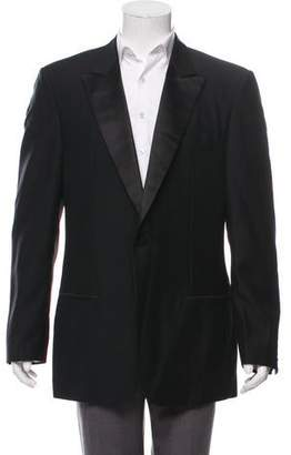 Versace Single Button Tuxedo Jacket