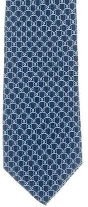 Versace Silk Geometric Print Tie