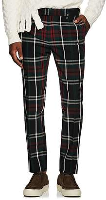 Undercover Men's Plaid Wool Skinny Trousers