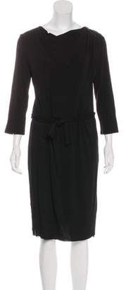 Max Mara Long Sleeve Knee-Length Dress