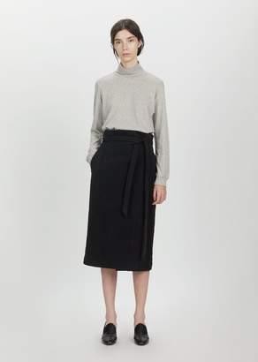La Garçonne Moderne Georgia Wrap Skirt Black