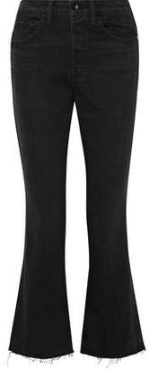 Helmut Lang Cropped High-Rise Flared Jeans