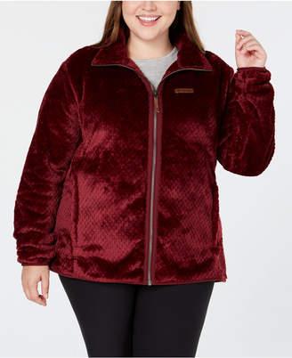 Columbia Plus Size Fire Side Ii Fleece Zip Jacket