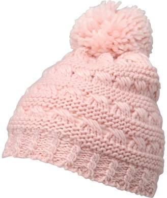 Board Angels Girls Knitted Pom-Pom Hat Dusty Pink