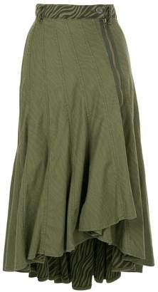 Hysteric Glamour ruffled asymmetric skirt