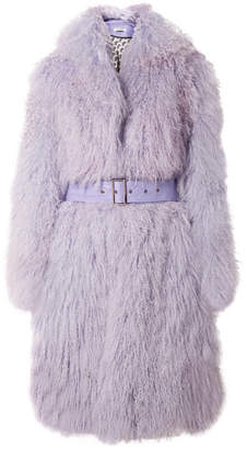 Saks Potts - Belted Shearling Coat - Lilac
