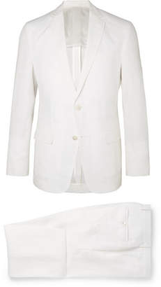 HUGO BOSS White Helford Slim-Fit Unstructured Linen Suit