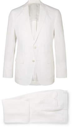 HUGO BOSS White Helford Slim-fit Unstructured Linen Suit - White