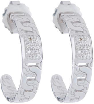 John Hardy Medium Diamond Pave Hoop Earrings