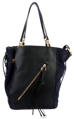 Chloé 2017 Medium Myer Leather & Suede Tote