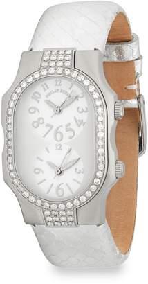 Philip Stein Teslar Women's Signature Diamond and Leather Strap Watch