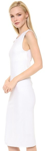 Alexander Wang Matte Jersey Sleeveless Back Cowl Dress