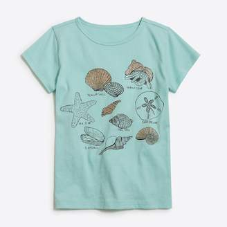 J.Crew Factory Girls' seashells keepsake T-shirt