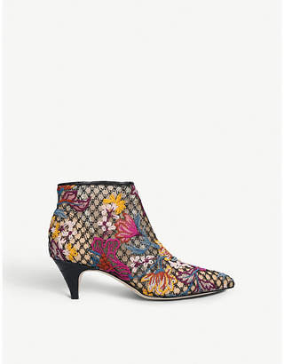 Sam Edelman Kinzey embroidered-lace ankle boots
