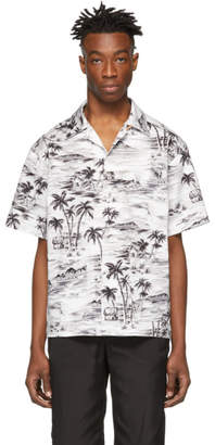 Stay Made SSENSE Exclusive Black and White Hawaiian Short Sleeve Shirt