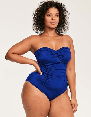 Figleaves Illusion Curve Bandeau Firm Control Swimsuit