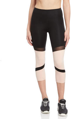 KENDALL + KYLIE Color Block High-Waisted Cropped Leggings