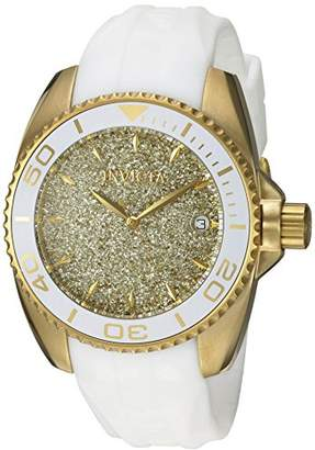 Invicta Women's 'Angel' Quartz Stainless Steel and Silicone Casual Watch