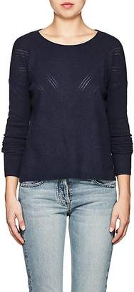 Barneys New York WOMEN'S POINTELLE-STITCHED CASHMERE CREWNECK SWEATER