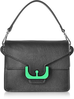 Coccinelle Ambrine Graphic Leather Crossbody Bag w/Canvas Strap