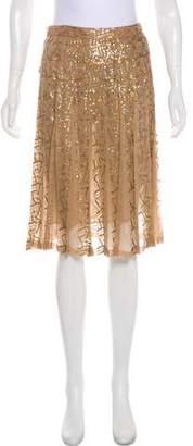 Max Mara Sequined Knee-Length Skirt w/ Tags