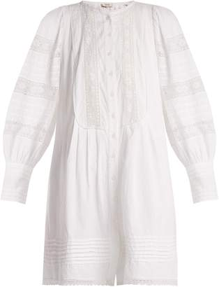 Sea Lace-trimmed cotton tunic dress