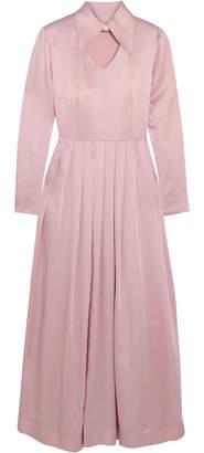 ALEXACHUNG Embellished Satin Midi Dress - Pink