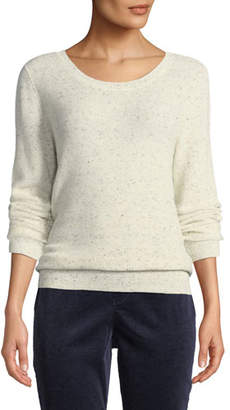 Eileen Fisher Speckle Knit Organic Cotton Pullover Sweater