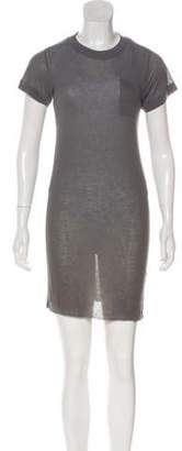 Alexander Wang Sheer T-Shirt Dress Grey Sheer T-Shirt Dress